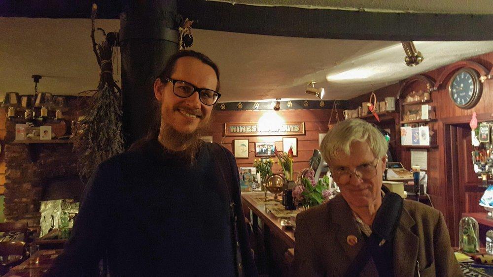 Fr Tikhon & Peter Brook in Brecon