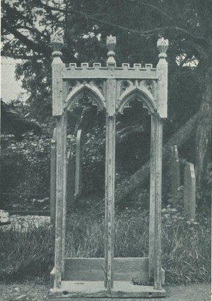 llanerfyl - front view of reredos